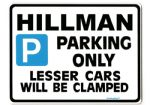 HILLMAN Large metal Sign for hunter avenger minx super